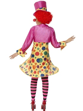 Adult Clown Lady Costume - Side View