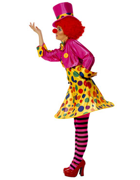 Adult Clown Lady Costume - Back View