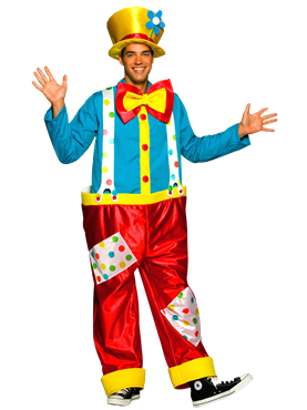 Adult Clown Male Costume Couples Costume