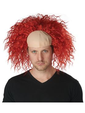 Clown Pattern Baldness Wig - Back View