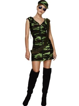 Adult Fever Combat Army Girl Costume