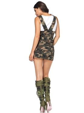 Adult Combat Cutie Army Costume - Back View