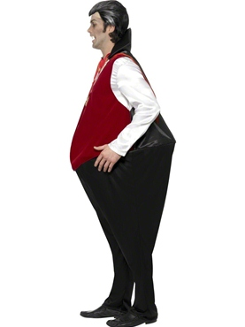 Adult Comedy Vampire Costume - Back View