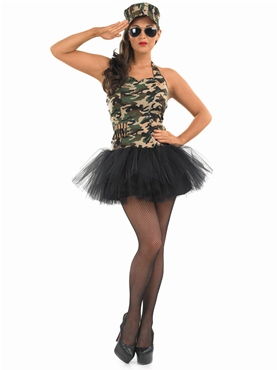 Adult Commando Tutu Girl Costume - Back View