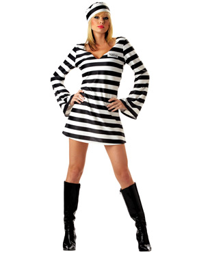 Adult Convict Chick Prisoner Costume
