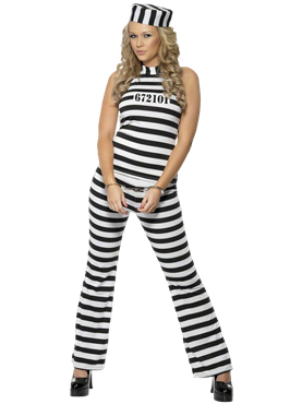 Adult Convict Cutie Costume Couples Costume