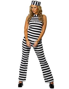 Adult Convict Cutie Costume