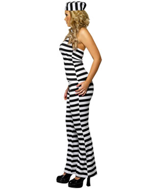 Adult Convict Cutie Costume - Side View