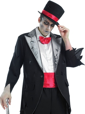 Adult Corpse Groom Costume - Back View