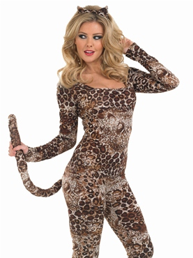 Adult Cougar Catsuit Costume - Back View
