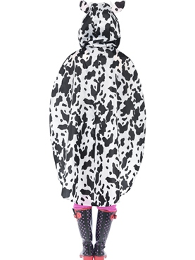 Cow Party Poncho Festival Costume - Side View