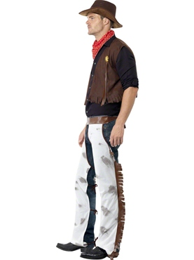 Adult Cowboy Costume - Back View