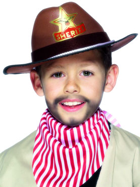 Child Cowboy Hat Brown Eva Foam