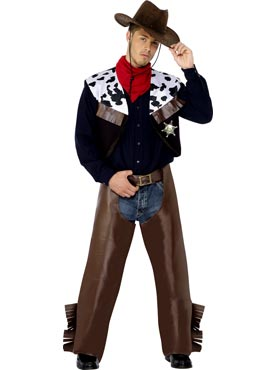 Adult Cowboys Costume Brown