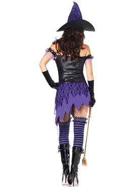 Adult Crafty Cutie Witch Costume - Back View