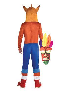 Adult Crash Bandicoot Costume - Back View