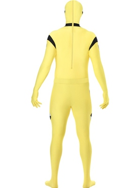 Adult Crash Dummy Skin Suit Costume - Back View