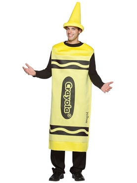 Adult Male Yellow Crayola Crayons Costume