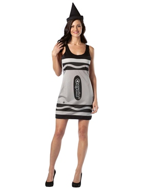 Adult Crayola Crayons Black Tank Dress Costume