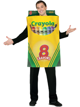 Adult Crayola Crayons Box of 8 Costume Couples Costume
