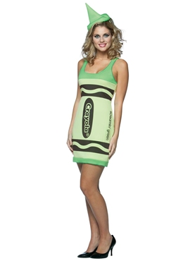Adult Crayola Crayons Screaming Green Tank Dress Costume Couples Costume
