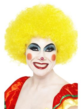 Crazy Clown Wig Yellow