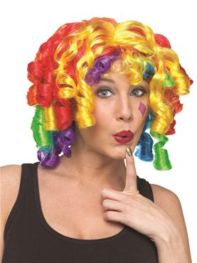 Adult Crazy Curlz Clown Wig