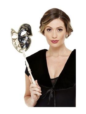 Cream & Black Venetian Mask