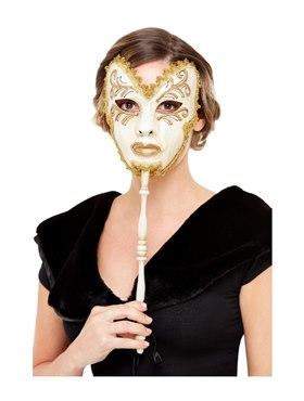 Cream Venetian Mask
