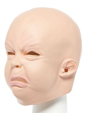 Creepy Baby Full Head Mask - Side View