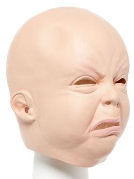 Creepy Baby Full Head Mask - Back View