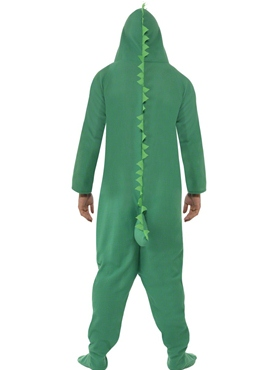 Adult Crocodile Onesie Costume - Back View