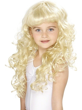 Curly Princess Childrens Blonde Wig