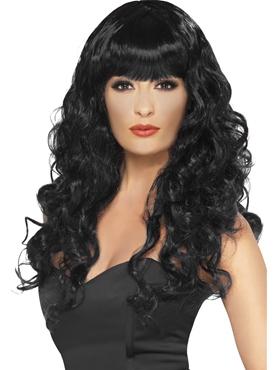 Adult Black Siren Wig