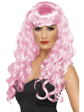 Curly Siren Wig Pink