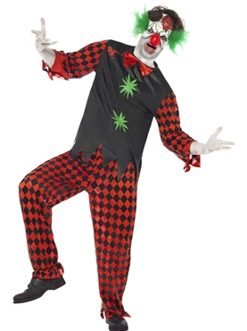 Adult Cut Throat Clown Costume
