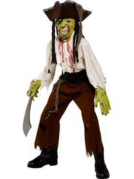 Child Zombie Alley Cut Throat Pirate Costume