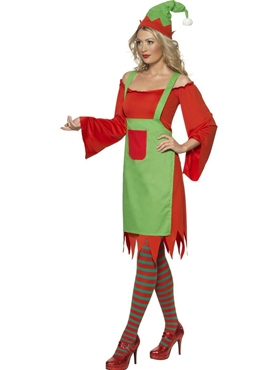 Adult Cute Elf Costume - Back View