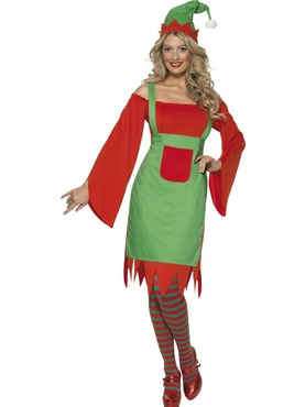 Adult Cute Elf Costume Thumbnail