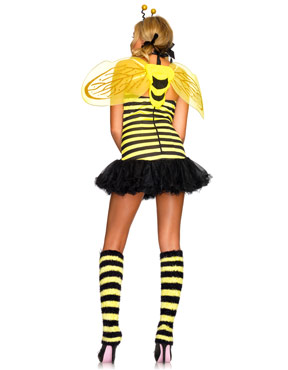 Adult Daisy Bumble Bee Costume - Back View