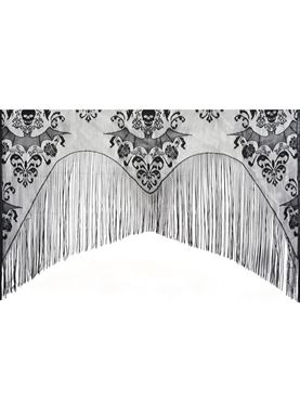 Damask Lace Skull Curtain Decoration