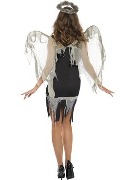 Adult Dark Fallen Angel Costume - Side View