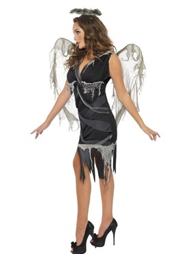 Adult Dark Fallen Angel Costume - Back View