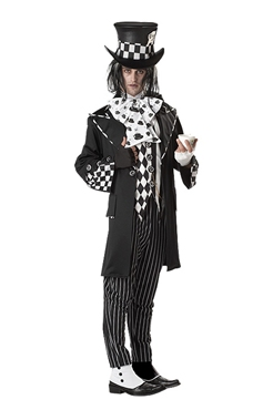 Adult Dark Mad Hatter Costume - Back View