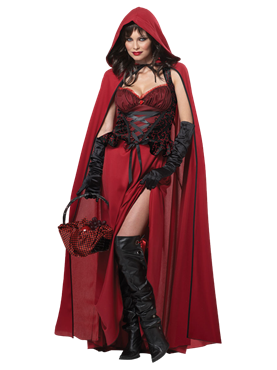 Adult Dark Red Riding Hood Costume Couples Costume