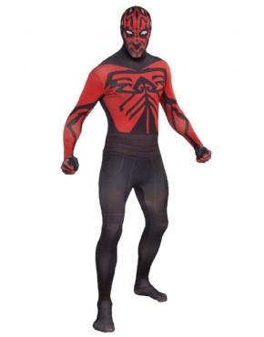 Adult Darth Maul Second Skin Suit Costume