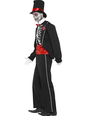 Adult Day of the Dead Costume - Side View