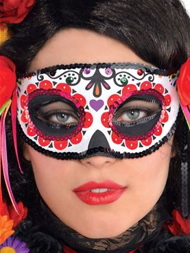 Day of The Dead Fashion Half Mask