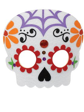 Day of The Dead Felt Mask