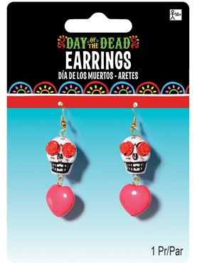 Adult Day of the Dead Skull Earrings